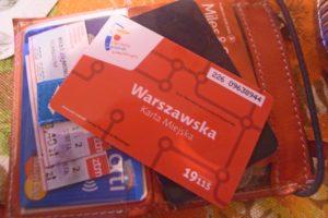 ワルシャワの定期券